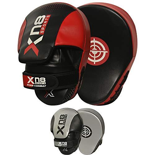 XN8 Handpratzen Kampfsport Boxen Pads- MMA Trainerpratzen Schlagpolster Kickboxen Boxpratzen für Muay Thai Kickboxen Taekwondo