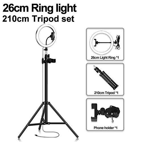Aro de Luz para Movil con Tripode Grande, 3 Colores Regulables Control Remoto Bluetooth para Youtube, Selfie, Maquillaje82in