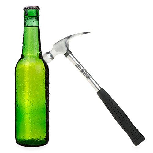 Feierabend-Hammer mit Gravur | Flaschenöffner als Hammer personalisiert aus Edelstahl | tolles Geschenk zum ersten Arbeitstag oder Vatertag - 26cm
