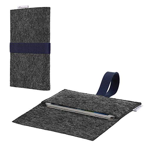flat.design vegane Handy Hülle Aveiro kompatibel mit Shift Shift6m passexakte Filz Tasche Hülle Sleeve Made in Germany