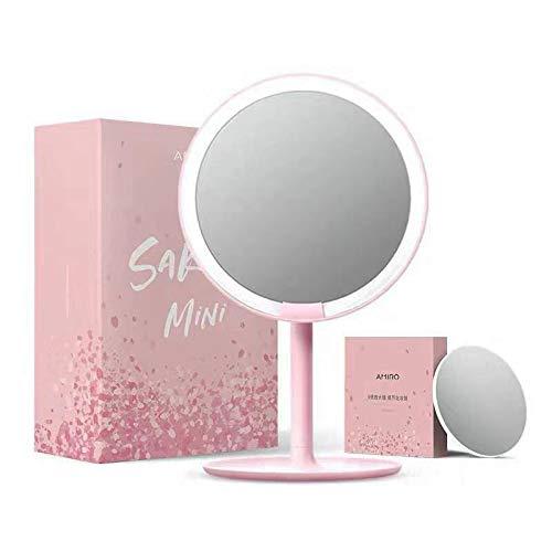 AMIRO Miroir de voyage avec éclairage LED 6,5 cm