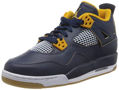 Jordan 4 Retro Bg, Sneaker a Collo Alto Unisex-Bambini, Blu (Navy 408452-425), 39 EU
