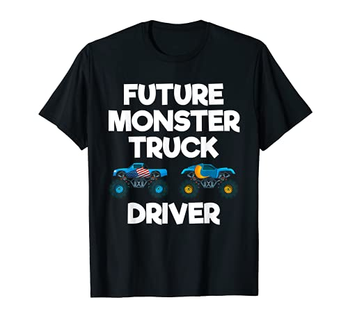 Diseo divertido del disfraz del humor del futuro Monster Truck Driver Camiseta