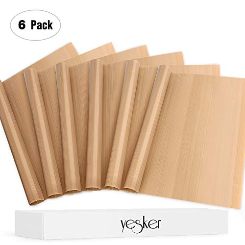 Find Bargain Yesker 6 Pack Teflon Sheet for 16x20 Heat Press Transfer Sheet Limited Time
