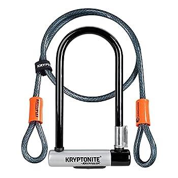 Kryptonite Kryptolok Standard 12.7mm U-Lock Bicycle Lock with FlexFrame-U Bracket & KryptoFlex 410 10mm Looped Bike Security Cable