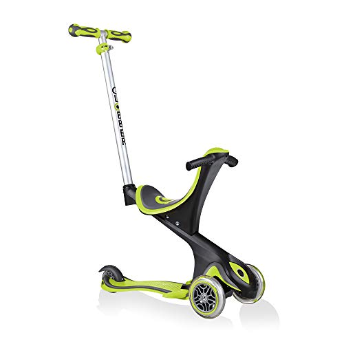 Globber - Patinete go up Comfort 5 en 1 Lime Green (458-106)