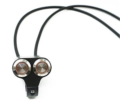 U/D LCZCZL 7/8'Motocicleta Manillar Montaje Faros Delanteros Interruptor de Control Doble Luz indicadora Interruptor de Botones Juegos de 3 Cables (Color : Rojo, Size : Automatic Reset)