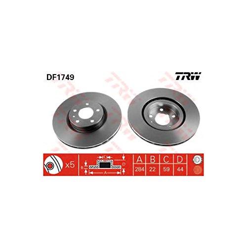 Preisvergleich Produktbild TRW DF1749 Bremsscheibe