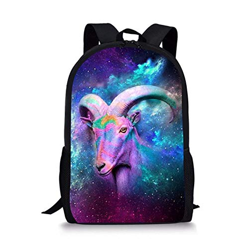 Fashion Universe Space Galaxy Women School Bag Children Book Bag for Primary School 3D Goat Printing Backpack B
