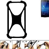 K-S-Trade® Handyhülle Für Oppo Find 7 Schutz Hülle Silikon Bumper Cover Case Silikoncase TPU Softcase Schutzhülle Smartphone Stoßschutz, Schwarz (1x),