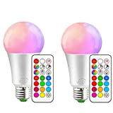iLC Bombillas Colores RGBW LED Bombilla Regulable Cambio de Color...