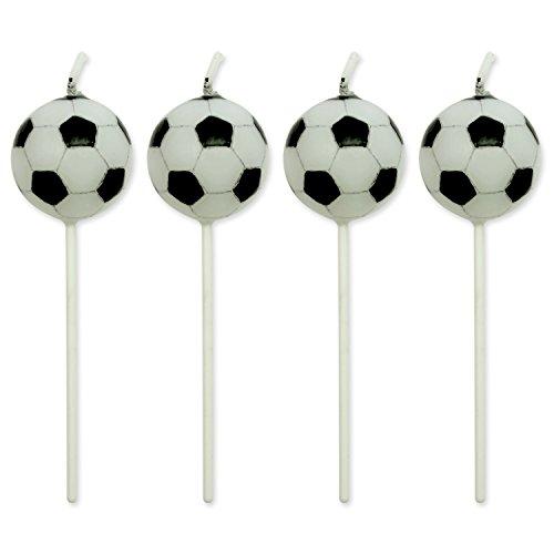 PME CA012 Fußballkerzen, Sortiment, 4-teilig, Kunststoff, Multicolored, 4 x 1.5 x 4 cm