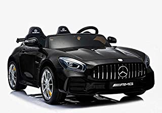 Electric AMG Kids Ride On Car Benz GTR Licensed 2 Seater Ride On Car With 2.4G Remote Control Eva Leather Black Upgraded (...