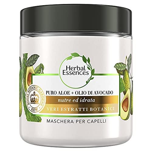 Herbal Essences Maschera Per Capelli Con Puro Aloe + Olio Di Avocado, In Collaborazione Con Royal Botanic Gardens, Kew, 250ml