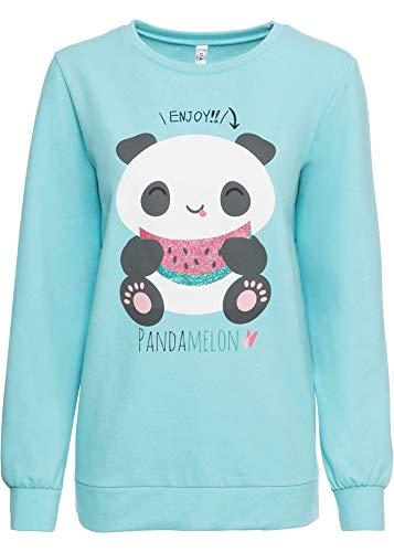 bonprix Sweatshirt mit Druck hellblau 52/54 für Damen