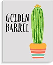 Lucy Darling Golden Barrel Cactus Print Wall Decor, 8 x 10 by Lucy Darling