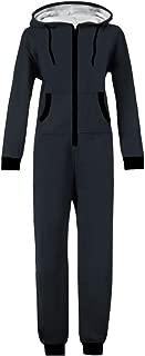 WOTOGOLD Men and Women Adult Pajamas Sportswear Hooded Unisex Jumpsuit