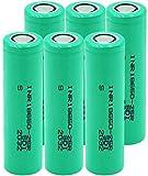 Batería De Iones De Litio Inr 18650-25R 3,7 V 2500 Mah Corriente De Descarga 20A Pilas De Repuesto Recargables con Batería De Litio De 6 Piezas