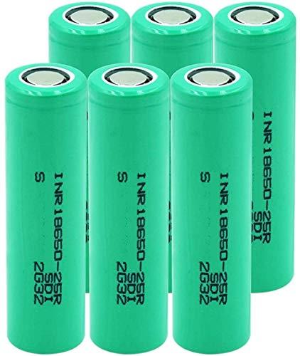 20a Corriente de Descarga Inr 18650 25r Pilas de Repuesto de Iones de Litio 2500 mah batería Recargable de Litio-6 Piezas