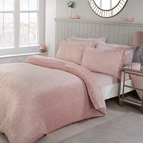 Sleepdown Juego de Funda de edredón y Funda de edredón de Forro Polar con Fundas de Almohada (220 x 230 cm), Color Rosa