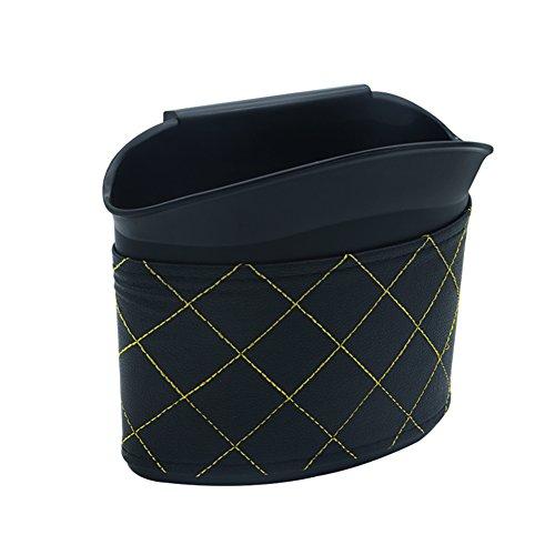 SevenD Poubelle de Voiture, Poubelle en Plastique, Hanging Recycle Universal Meilleure Poubelle de Déchets Auto Mini Poubelle Sac Container Pour Bureau d'étude de Bureau