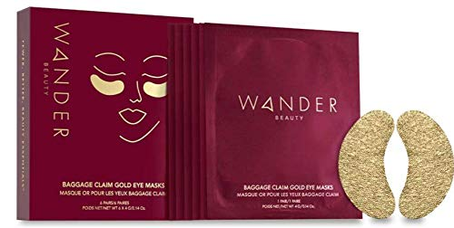 Under Eye Patches - WANDER BEAUTY BAGGAGE CLAIM- Brightens Dark Circles, Hyaluronic Acid Under Eye Mask for Puffy Under Eye Bags, Fine Lines, Wrinkles, Dullness, Hydrates, Moisturizes, 6 Pair.