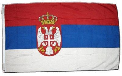 XXL Flagge Fahne Serbien mit Wappen 150 x 250 cm
