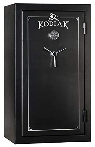 Kodiak Gun Safe for Rifles and Pistols KB5933ECX by Rhino Metals | 32 Rifles or Shotguns and 6 Handguns | 40 Minute Fireproof Rating | Electronic Keypad and Lock | Door Organizer | 420lbs