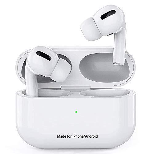 Auriculares Bluetooth 5.0 Auricular Inalámbrico con cancelación de Ruido estéreo 3D HD Control Táctil Auriculares IPX7 Impermeables con micrófono Integrados para Apple/Airpods Pro/iPhone/Android
