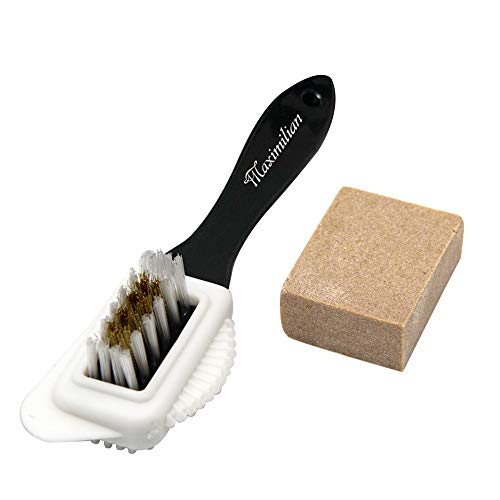 Shoe Brush, Suede & Nubuck 4-Way Brush + Eraser, Premium Shoe Cleaner Kit