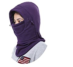 One size fits most adults High quality thick fabrics Suitable for winter riding,skiing,hiking,etc. Full face and neck coverage design Can keep warm for your face,nose,ears,and neck,Perfect protection for sping fall and winter
