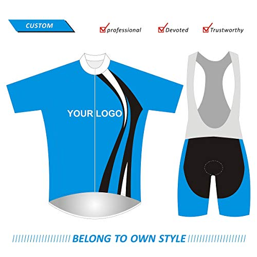 SUHINFE Maglia da Ciclismo Personalizzata, Tute da Ciclismo, Salopette da Ciclismo, Costumi da Ciclismo per MTB