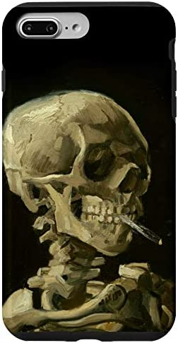 iPhone 7 Plus 8 Plus Van Gogh Painting Head Of Skeleton Cigarette Art Phone Cover Case product image