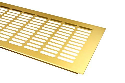 Lüftungsgitter Aluminium Stegblech Gold eloxiert - Breite 150 mm Diverse Längen (800 mm)