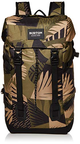 Burton New Tinder 2.0 Backpack Updated with External Laptop Pocket & Water Bottle Pockets, Martini Olive Woodcut Palm, One Size