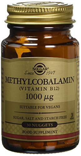 Solgar Methylcobalamin (Vitamin B12) 1000 µg Nuggets, Pack of 30