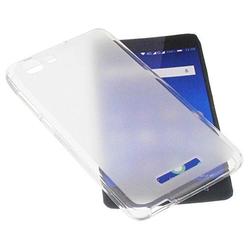 foto-kontor Tasche für Mobistel Cynus F10 Gummi TPU Schutz Handytasche transparent weiß