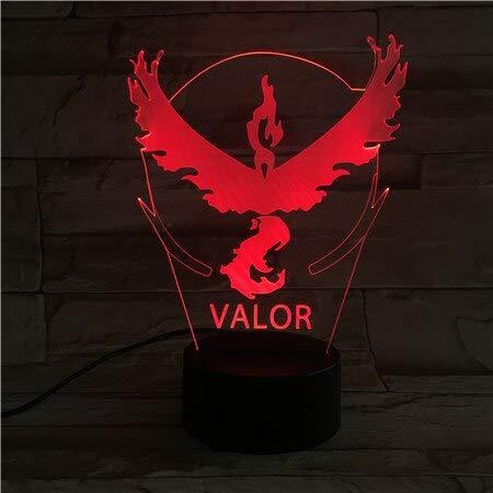 Valor Friend USB Office 3D LED Lámpara de mesa de luz nocturna Mesita de noche Decoración Regalo de niños