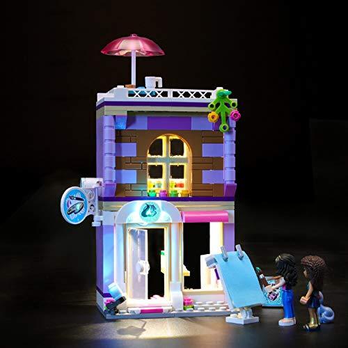 Kit De Iluminación Led para Lego Heartlake Estudio Artístico De Emma,Compatible con Ladrillos De Construcción Lego Modelo 41365 (NO Incluido En El Modelo)