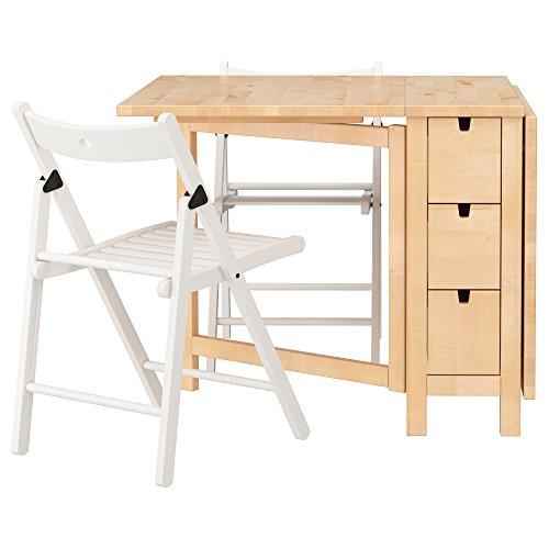 ZigZag Trading Ltd IKEA NORDEN/TERJE – Tisch und 2 Stühle, Birke / Weiß