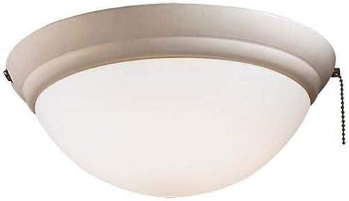 Minka-Aire K9375-L-BWH, Universal Light Kit, Bone White Finish with Opal Glass