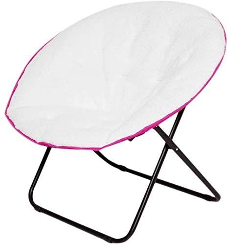 Maanstoel Draagbare grote synthetisch lederen klapstoel Maanstoel Lichtgewicht en comfortabele constructie met groot kussen