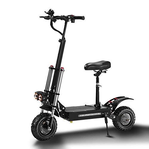 Scooter eléctrico 5600W Velocidad máxima 85 km/h 60V 38Ah Carga 400kg para adultos/adolescentes ligero ajustable plegable adulto Kick City Scooter Commuter Adecuada para entusiastas del Todoterreno