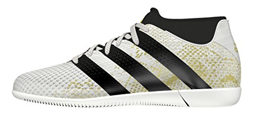 adidas Unisex-Kinder Ace 16.3 Primemesh In J Fußballschuhe, Weiß (FTWR White/Core Black/Gold Metallic), 29 EU