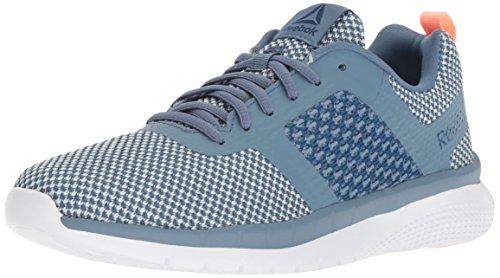 Reebok Mujeres Prime Runner FC Bajos & Medios Cordon Zapatos para Correr, Blue Slate/Dgtl Pink/Army, Talla 5
