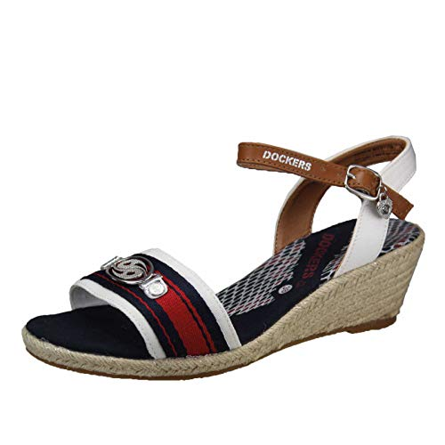 Dockers by Gerli 36is214-506 Sandals Women Blue/White/Red - 9.5 - Sandals Shoes