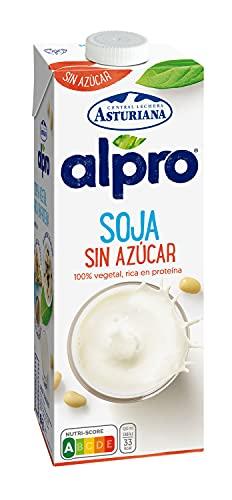 Alpro Central Lechera Asturiana - Bebida de Soja, Sin Azúcar, 100% Vegetal, Rica Proteínas, Apta para Veganos, Brik litro x 1000ml