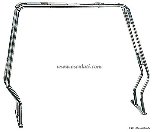Geräteträger aus Edelstahl für Schlauchboote Breite bis 180cm