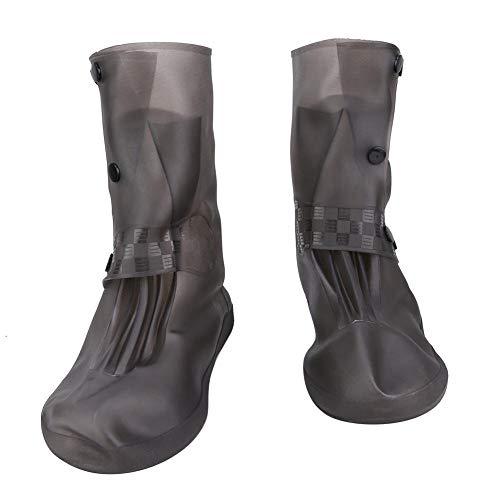 Antislip siliconen overschoenen Waterdichte, herbruikbare schoenbeschermers Regenlaarzen voor mannen Dames Kinderen Middencilinder(L.)