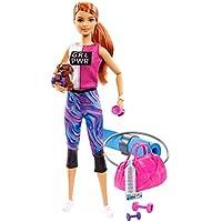Barbie- Bienesta Muñeca con ropa deportiva y accesorios, Multicolor (Mattel GJG57)